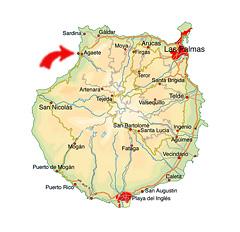 Puerto de las Nieves karta